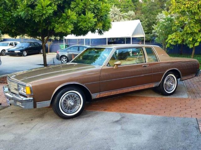 Chevrolet Caprice Coupe 1985 Gold Tan For Sale