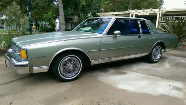Chevrolet Caprice Coupe 1985 Green For Sale
