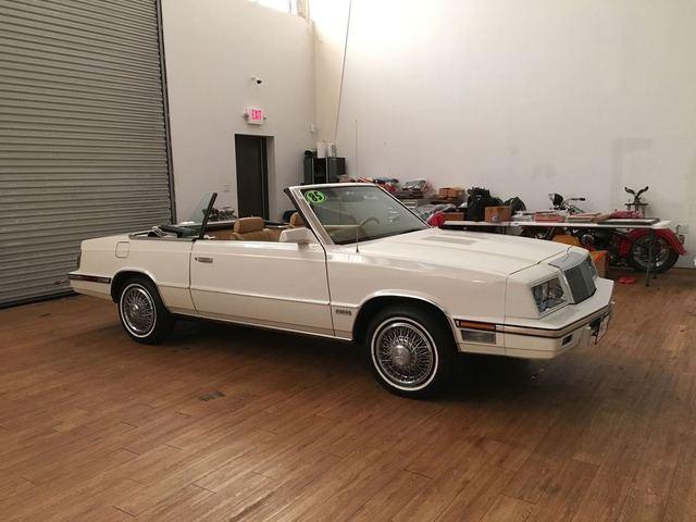 Chrysler Lebaron Convertible 1985 White For 1c3bc55e5fg271402 Turbo Mark Cross Package K Car Garage Kept