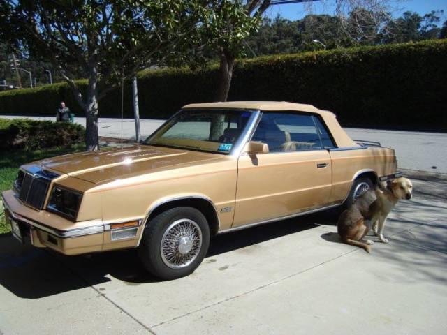1985 Chrysler Lebaron Mark Cross Turbocharged Convertible Clic