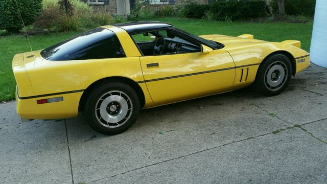 Image result for 1985 yellow corvette t top