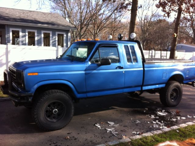 2018 F250 Lifted >> Ford F-250 Extended Crew Cab Pickup 1985 Blue For Sale. 1fthx26h3fkb44758 1985 Ford F250 ...