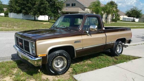 gmc sierra 1500 standard cab pickup 1985 brown for sale. Black Bedroom Furniture Sets. Home Design Ideas