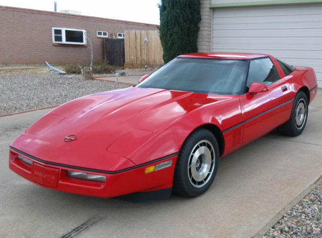 Chevrolet Corvette Coupe 1985 Red For Sale  1g1yy0785f5131954 1985 Red Corvette With Z51 Package
