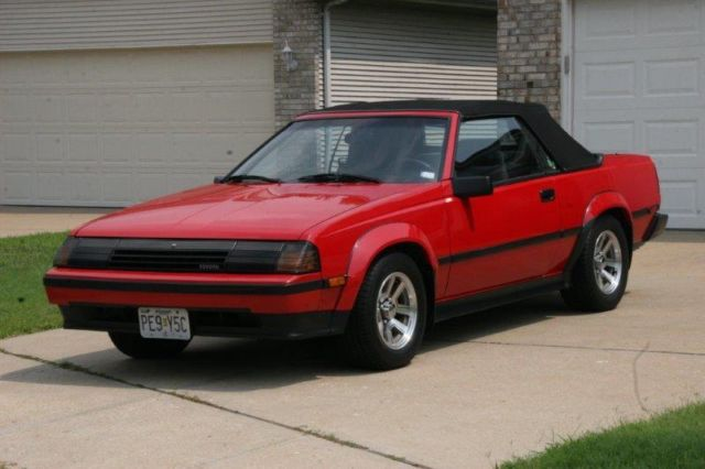 toyota celica convertible 1985 red for sale jt5ra65k0f4052162 1985 toyota celica gts. Black Bedroom Furniture Sets. Home Design Ideas