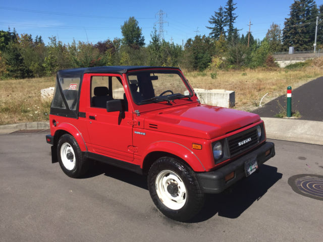 Suzuki Samurai Suv 1991 Red For Sale  Js4jd31c2m4101023