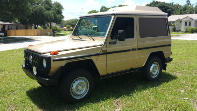 Mercedes benz g class suv 1986 gold for sale for Mercedes benz w463 for sale
