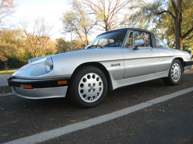 Alfa Romeo Other Convertible Silver For Sale ZARBAG - Alfa romeo spider hardtop for sale