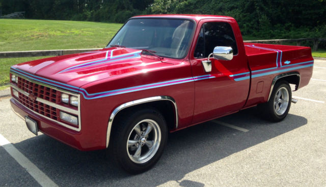 Chevrolet C 10 Pickup 1986 Deep Cherry Red Pearl Coat For Sale