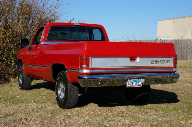 Chevrolet c k pickup 1500 standard cab pickup 1986 red for for C k motor car sales
