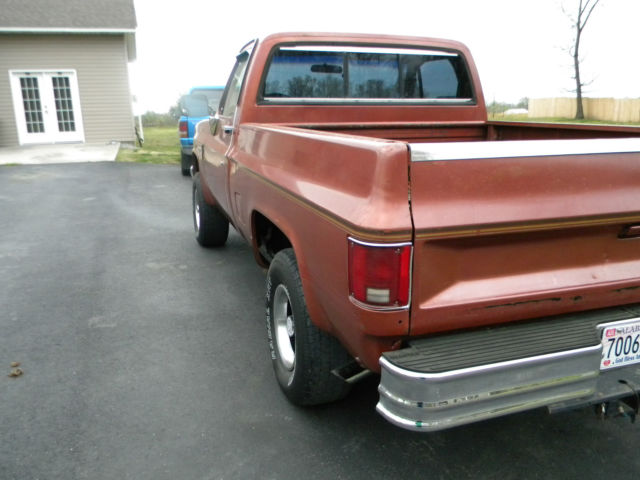Chevrolet C 10 Standard Cab Pickup 1986 Canyon Copper