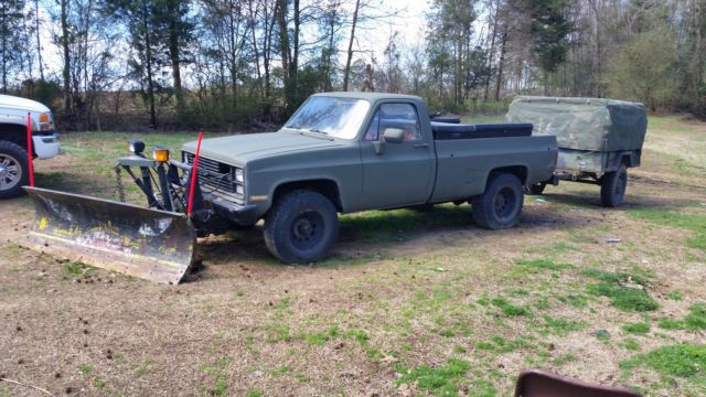 Chevrolet Other Pickups Standard Cab Pickup 1986 Green For
