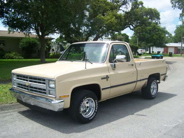 Chevrolet Silverado 1500 Pickup Truck 1986 Tan For Sale  1gccc14nxgj120019 1986 Chevy Silverado