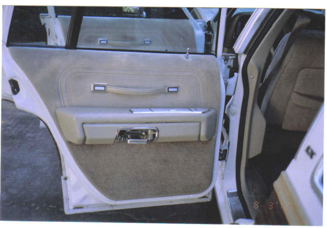 Ford Crown Victoria Wagon 1986 White With Woody Trim For