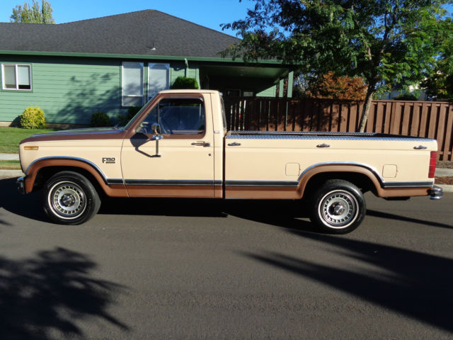 Ford F  Standard Cab Pickup  Tan For Sale Ftefngpb  Ford F Lariat Long Bed Low Miles