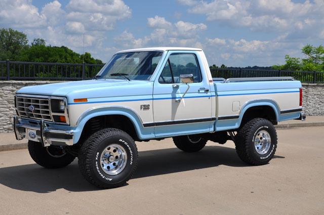 ford f 150 pickup truck 1986 blue for sale 1ftef14n7gna41108 1986 ford f150 xlt lariat 4x4. Black Bedroom Furniture Sets. Home Design Ideas