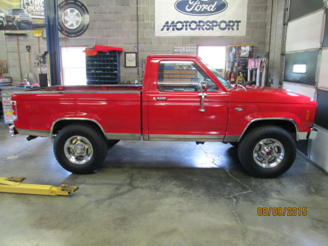 ford ranger cab chassis 1986 red for sale 1ftcr11t1gua84544 1986 ford ranger 4x4 base cab. Black Bedroom Furniture Sets. Home Design Ideas