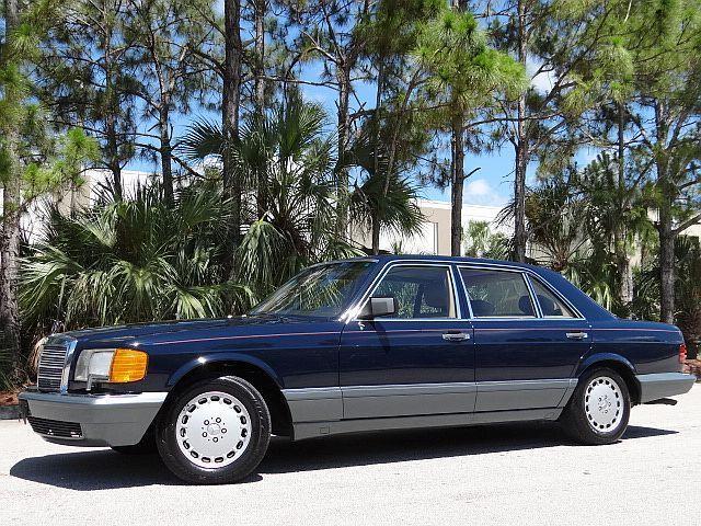 Mercedes benz 500 series sedan 1986 blue for sale for 1986 mercedes benz 420 sel