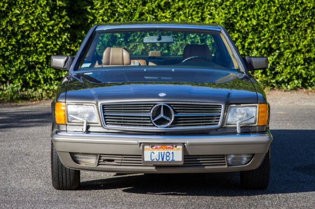 Mercedes benz 500 series coupe 1986 anthracite grey for 1986 mercedes benz 560 sec