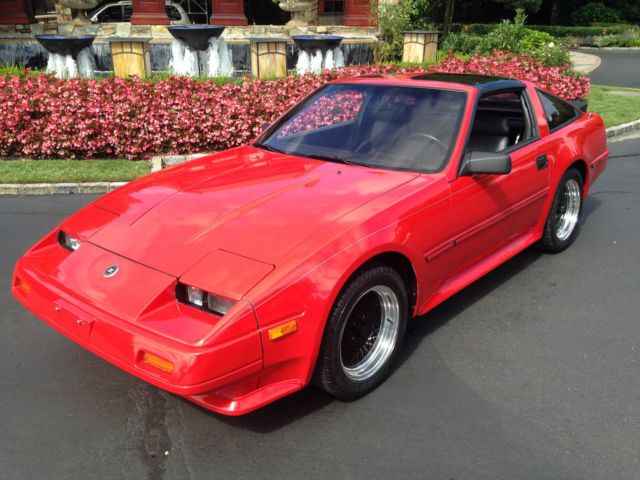 nissan 300zx coupe 1986 red for sale jn1cz14s1gx108166 1986 nissan 300zx turbo 53k miles 5. Black Bedroom Furniture Sets. Home Design Ideas
