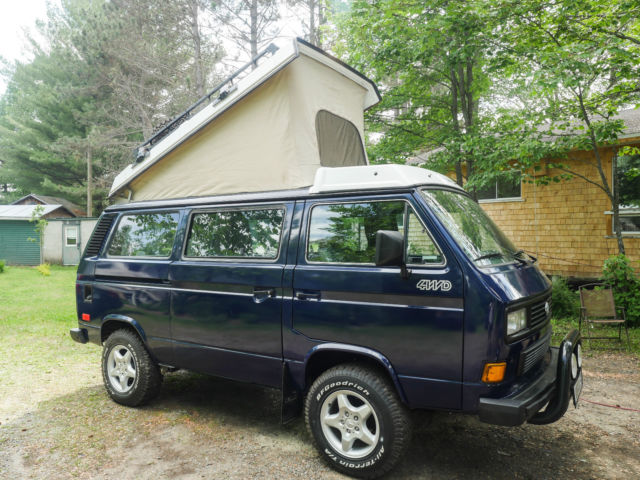 volkswagen bus vanagon van camper 1986 blue for sale. Black Bedroom Furniture Sets. Home Design Ideas