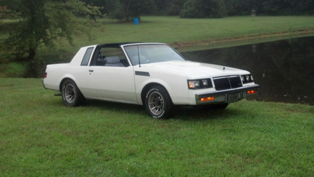 White Buick T Type Turbo T Top Same Drivetrain As Grand National on Buick Regal Oil Filter Location