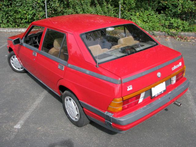 new arrival 3ab2a f54d3 Alfa Romeo Milano Sedan 1987 Alfa Red For Sale ...