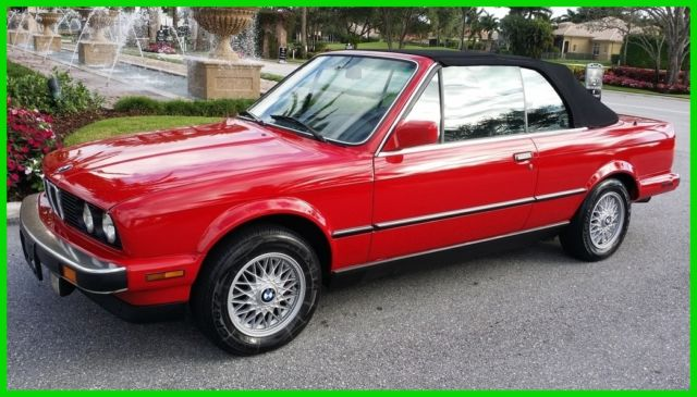 BMW 3-Series Convertible 1987 Red For Sale. WBABB2307H1940079 1987 ...