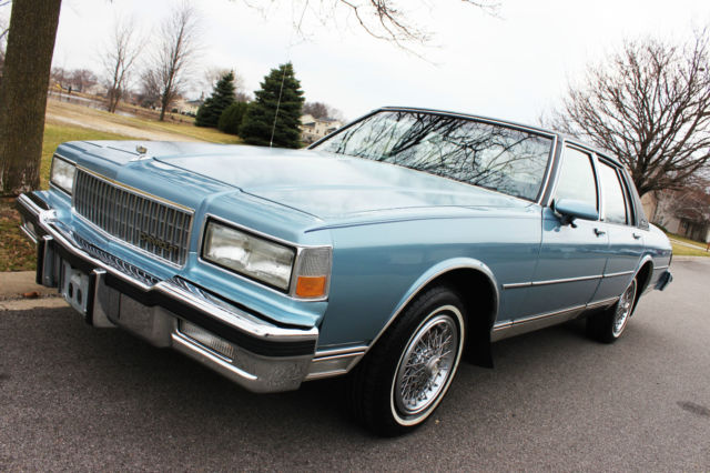 chevrolet caprice sedan 1987 blue for sale. Black Bedroom Furniture Sets. Home Design Ideas