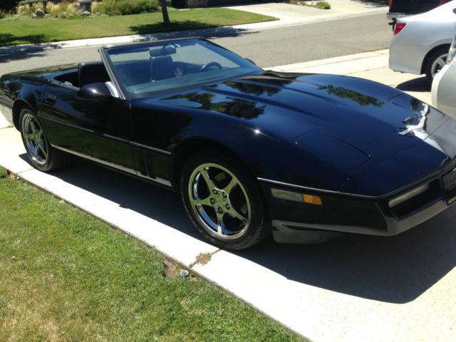 chevrolet corvette convertible 1987 black for sale rh findclassicars com 1989 Corvette 1997 Corvette