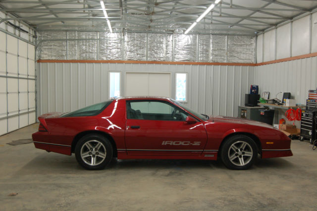 chevrolet camaro coupe 1987 burgundy for sale 1g1fp2189hn136320 1987 chevrolet iroc z28 one. Black Bedroom Furniture Sets. Home Design Ideas