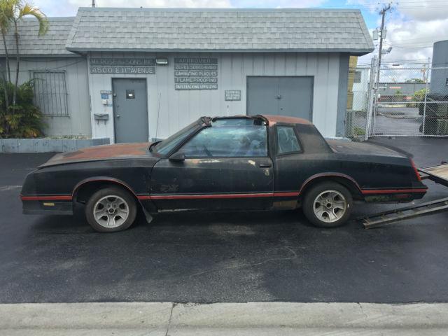 chevrolet monte carlo coupe 1987 black for sale 1g1gz11g3hp153876 1987 chevrolet monte carlo ss. Black Bedroom Furniture Sets. Home Design Ideas