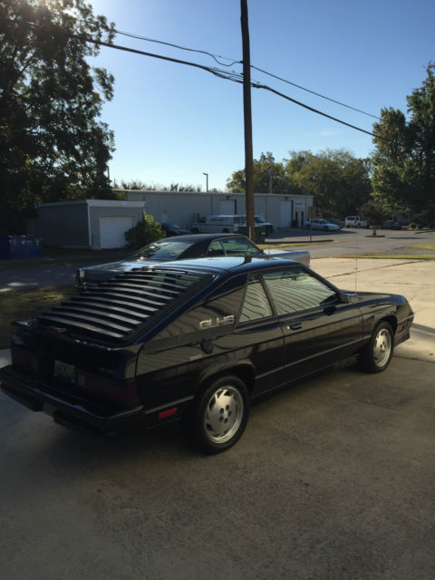 Dodge Charger Hatchback 1987 Black For Sale