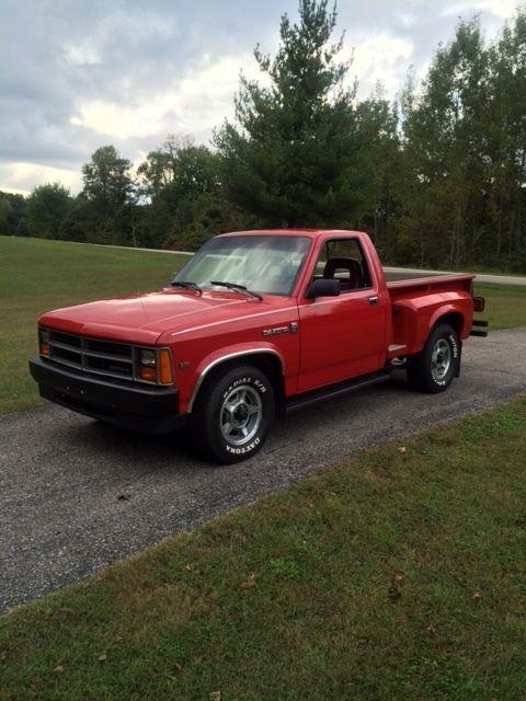 dodge dakota standard cab pickup 1987 red for sale 1b7gn14m2hs456553 1987 dodge dakota stepside. Black Bedroom Furniture Sets. Home Design Ideas