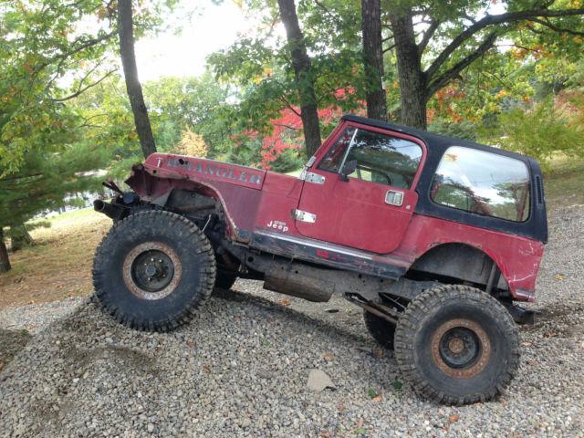 Jeep Wrangler SUV 1987 Red For Sale  2bccv8139hb527052 1987
