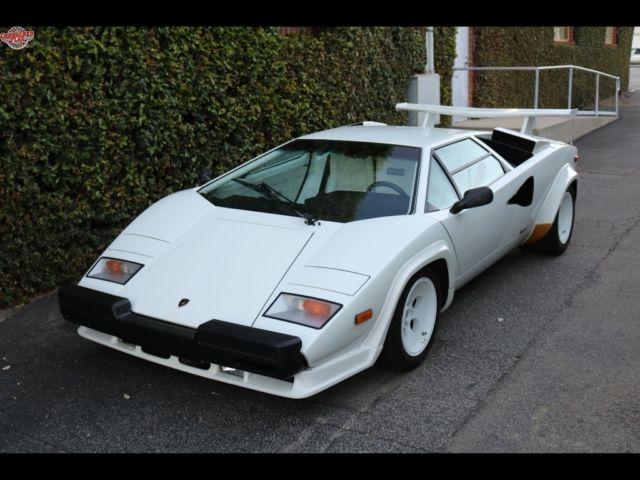 Lamborghini Countach 1987 White For Sale Za9ca05axhla12168 1987