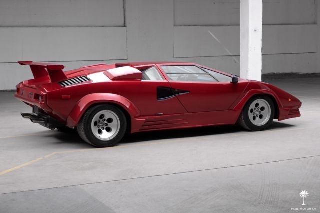 lamborghini countach coupe 1987 burgundy for sale za9ca05a7hla12113 1987 lamborghini countach. Black Bedroom Furniture Sets. Home Design Ideas