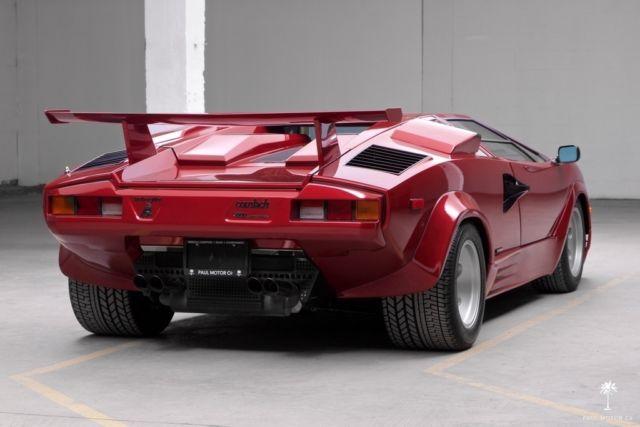 Lamborghini Countach Coupe 1987 Burgundy For Sale Za9ca05a7hla12113 1987 Lamborghini Countach