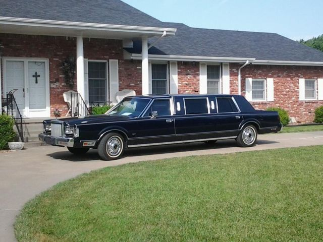 Lincoln Town Car Limousine 1987 Dark Blue For Sale