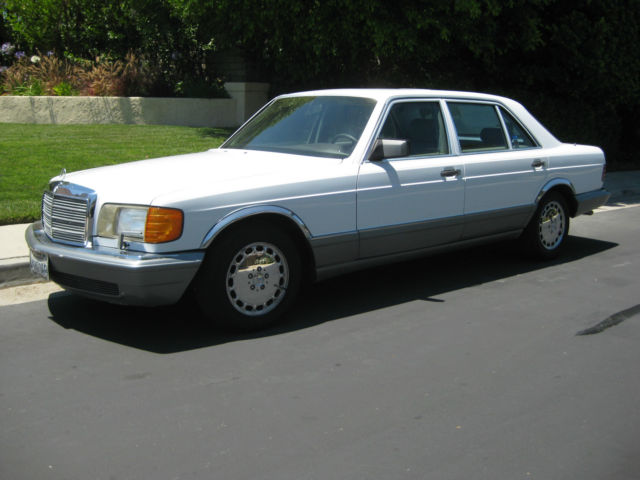 Mercedes benz s class sedan 1987 white for sale for 1987 mercedes benz 420sel