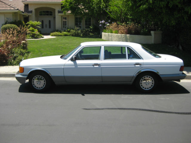 Mercedes benz s class sedan 1987 white for sale for Tarzana mercedes benz