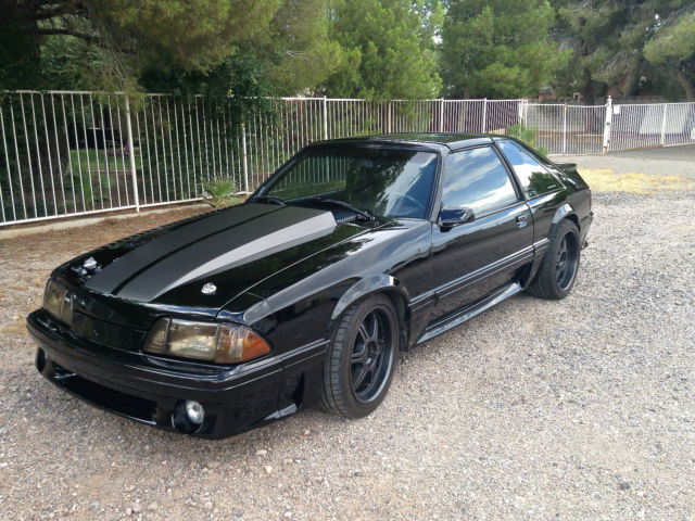 ford mustang coupe 1987 black for sale 1fabp42e7hf203065 1987 mustang gt fox body 347ci. Black Bedroom Furniture Sets. Home Design Ideas