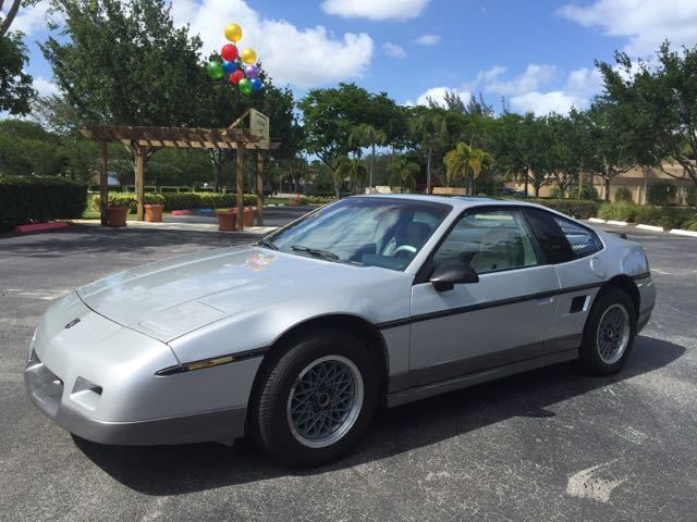 Pontiac Fiero Coupe 1987 Silver For Sale 1G2PG1194HP201064 GT V6 One Owner Low Miles Clean Autocheck Sunroof BBS Wheels