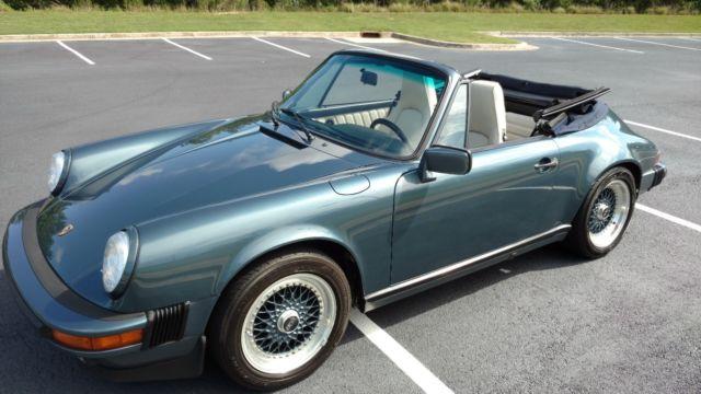 porsche 911 convertible 1987 venetian blue for sale wp0eb0915hs171144 1987 porsche 911 carrera. Black Bedroom Furniture Sets. Home Design Ideas