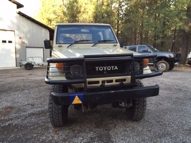 Toyota Land Cruiser Crew Cab Pickup 1987 Brown For Sale
