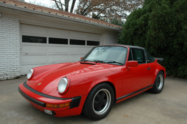 porsche 911 convertible 1987 red for sale wp0eb0917js160460 1988 3 2 carrera targa. Black Bedroom Furniture Sets. Home Design Ideas