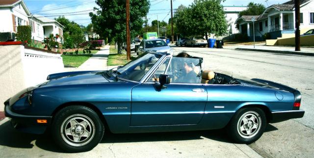 Alfa Romeo Spider Convertible Blue For Sale ZARBAJ - 1988 alfa romeo spider for sale