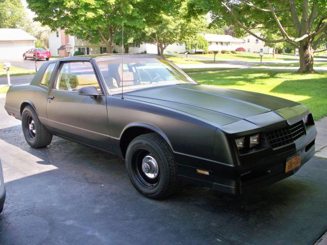 chevrolet monte carlo coupe 1988 black for sale