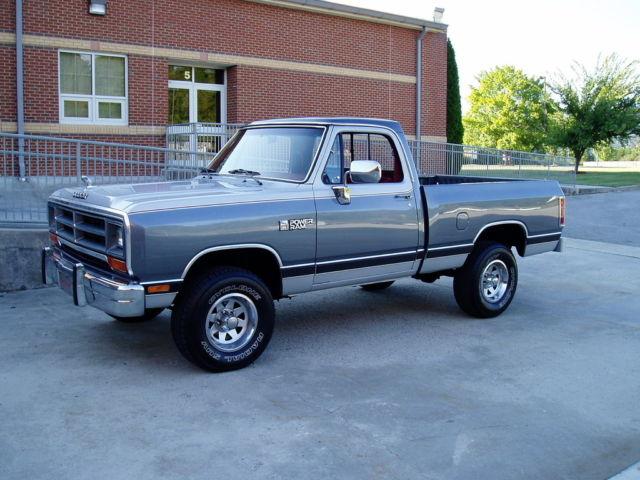 dodge other pickups regular cab pickup 1988 charcoal silver for sale 1b7hw14y4js602008 1988. Black Bedroom Furniture Sets. Home Design Ideas