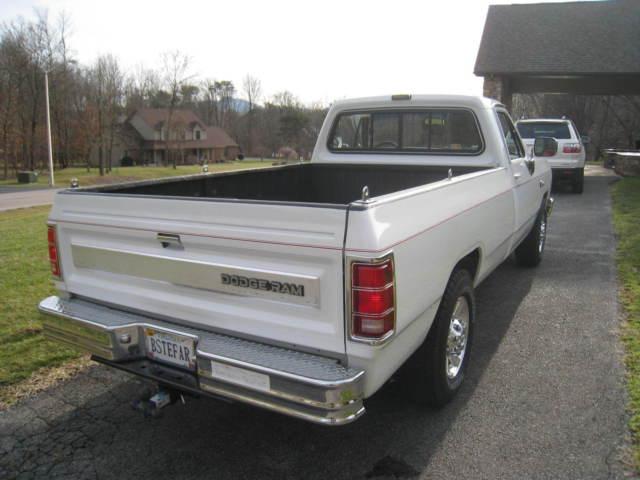 dodge other pickups standard cab pickup 1988 white for sale 1b7hd24yxjs793669 1988 dodge ram. Black Bedroom Furniture Sets. Home Design Ideas